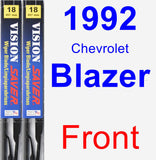 Front Wiper Blade Pack for 1992 Chevrolet Blazer - Vision Saver