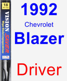 Driver Wiper Blade for 1992 Chevrolet Blazer - Vision Saver