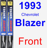 Front Wiper Blade Pack for 1993 Chevrolet Blazer - Vision Saver
