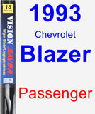 Passenger Wiper Blade for 1993 Chevrolet Blazer - Vision Saver