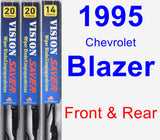 Front & Rear Wiper Blade Pack for 1995 Chevrolet Blazer - Vision Saver