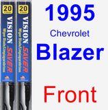 Front Wiper Blade Pack for 1995 Chevrolet Blazer - Vision Saver