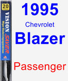 Passenger Wiper Blade for 1995 Chevrolet Blazer - Vision Saver