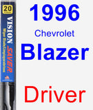 Driver Wiper Blade for 1996 Chevrolet Blazer - Vision Saver
