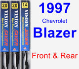 Front & Rear Wiper Blade Pack for 1997 Chevrolet Blazer - Vision Saver