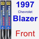 Front Wiper Blade Pack for 1997 Chevrolet Blazer - Vision Saver