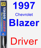 Driver Wiper Blade for 1997 Chevrolet Blazer - Vision Saver