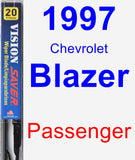 Passenger Wiper Blade for 1997 Chevrolet Blazer - Vision Saver