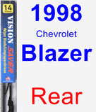 Rear Wiper Blade for 1998 Chevrolet Blazer - Vision Saver