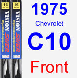 Front Wiper Blade Pack for 1975 Chevrolet C10 - Vision Saver