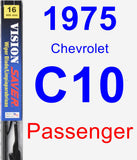 Passenger Wiper Blade for 1975 Chevrolet C10 - Vision Saver
