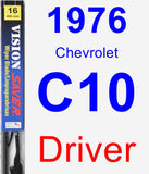 Driver Wiper Blade for 1976 Chevrolet C10 - Vision Saver