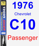 Passenger Wiper Blade for 1976 Chevrolet C10 - Vision Saver