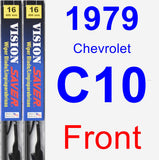 Front Wiper Blade Pack for 1979 Chevrolet C10 - Vision Saver