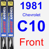 Front Wiper Blade Pack for 1981 Chevrolet C10 - Vision Saver