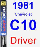Driver Wiper Blade for 1981 Chevrolet C10 - Vision Saver