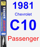 Passenger Wiper Blade for 1981 Chevrolet C10 - Vision Saver