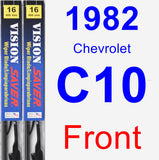 Front Wiper Blade Pack for 1982 Chevrolet C10 - Vision Saver