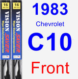 Front Wiper Blade Pack for 1983 Chevrolet C10 - Vision Saver