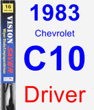 Driver Wiper Blade for 1983 Chevrolet C10 - Vision Saver