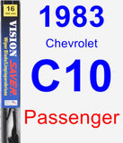 Passenger Wiper Blade for 1983 Chevrolet C10 - Vision Saver