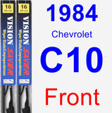 Front Wiper Blade Pack for 1984 Chevrolet C10 - Vision Saver