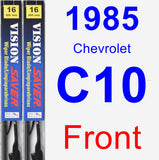 Front Wiper Blade Pack for 1985 Chevrolet C10 - Vision Saver