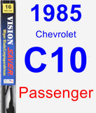 Passenger Wiper Blade for 1985 Chevrolet C10 - Vision Saver