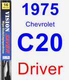 Driver Wiper Blade for 1975 Chevrolet C20 - Vision Saver