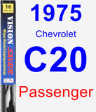 Passenger Wiper Blade for 1975 Chevrolet C20 - Vision Saver