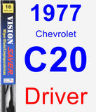 Driver Wiper Blade for 1977 Chevrolet C20 - Vision Saver