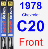 Front Wiper Blade Pack for 1978 Chevrolet C20 - Vision Saver