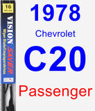Passenger Wiper Blade for 1978 Chevrolet C20 - Vision Saver