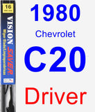 Driver Wiper Blade for 1980 Chevrolet C20 - Vision Saver