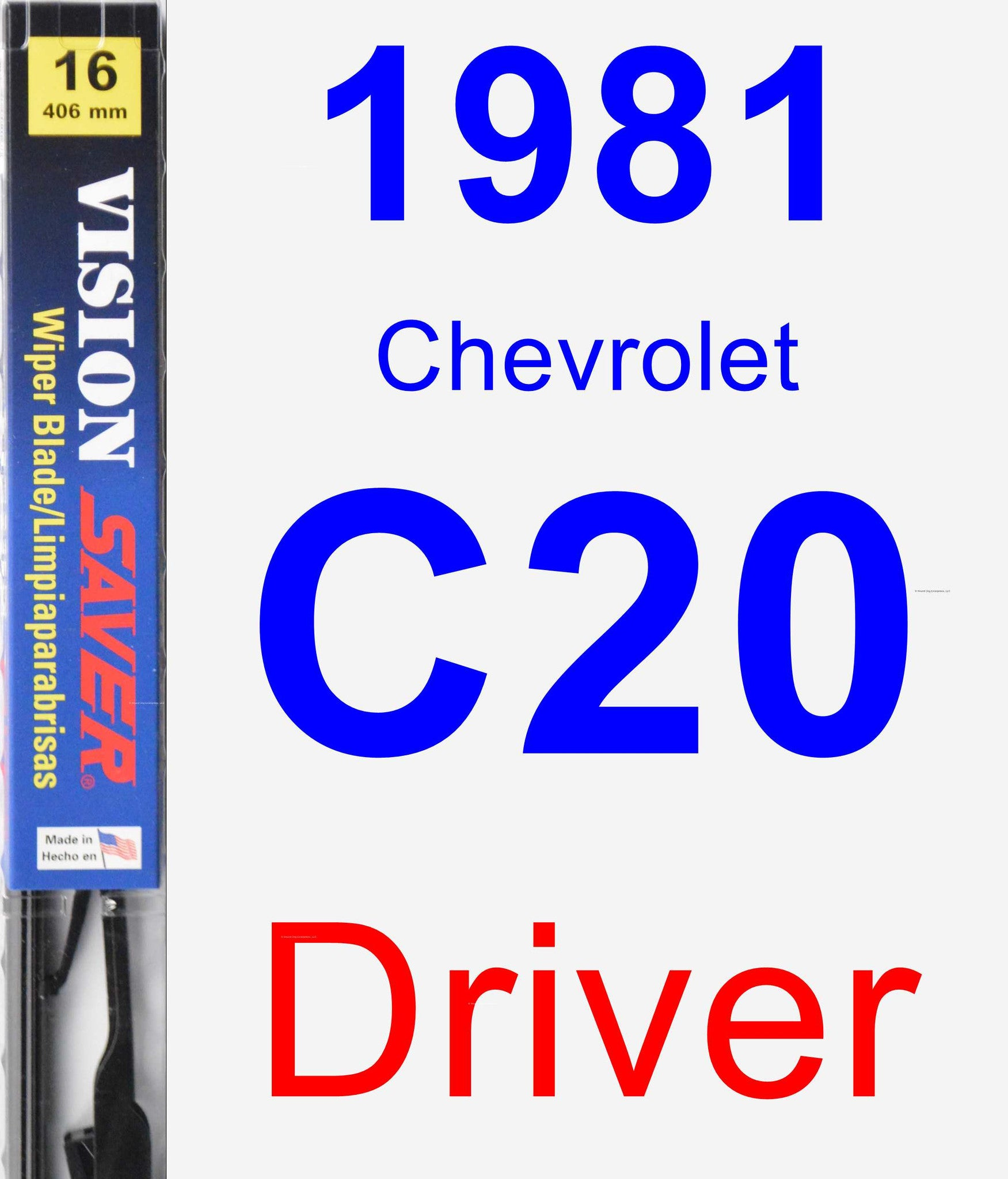 Driver Wiper Blade for 1981 Chevrolet C20 - Vision Saver