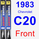 Front Wiper Blade Pack for 1983 Chevrolet C20 - Vision Saver