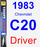 Driver Wiper Blade for 1983 Chevrolet C20 - Vision Saver