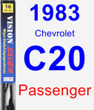 Passenger Wiper Blade for 1983 Chevrolet C20 - Vision Saver