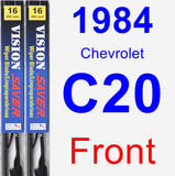 Front Wiper Blade Pack for 1984 Chevrolet C20 - Vision Saver