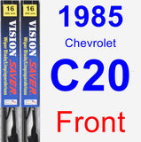 Front Wiper Blade Pack for 1985 Chevrolet C20 - Vision Saver