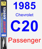 Passenger Wiper Blade for 1985 Chevrolet C20 - Vision Saver