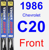 Front Wiper Blade Pack for 1986 Chevrolet C20 - Vision Saver