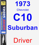 Driver Wiper Blade for 1973 Chevrolet C10 Suburban - Vision Saver