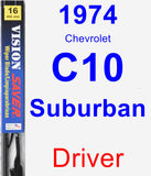 Driver Wiper Blade for 1974 Chevrolet C10 Suburban - Vision Saver