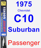 Passenger Wiper Blade for 1975 Chevrolet C10 Suburban - Vision Saver