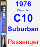 Passenger Wiper Blade for 1976 Chevrolet C10 Suburban - Vision Saver