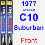 Front Wiper Blade Pack for 1977 Chevrolet C10 Suburban - Vision Saver