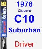 Driver Wiper Blade for 1978 Chevrolet C10 Suburban - Vision Saver