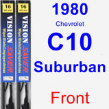 Front Wiper Blade Pack for 1980 Chevrolet C10 Suburban - Vision Saver