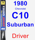 Driver Wiper Blade for 1980 Chevrolet C10 Suburban - Vision Saver